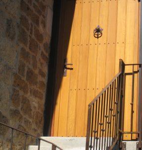Porte d'entrée bois à lames
