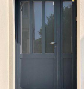 Porte d'entrée Bois/Aluminium