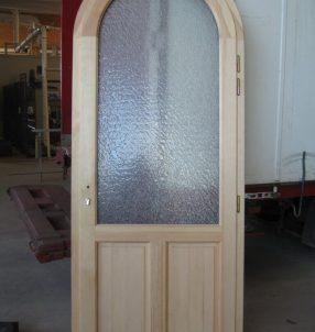 Porte d'entrée en mixte vue côté intérieur (Pin).